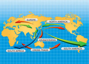 world cross-trade map